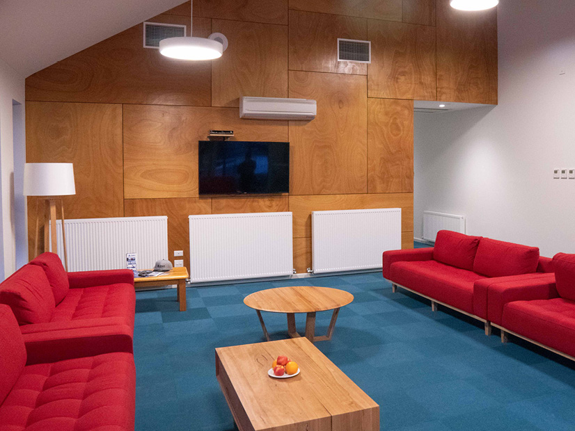The lounge room of the All Access Abilities Building at Howmans Gap Alpine Centre.